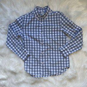 Crewcuts Boys Button Down Shirt Gingham Check